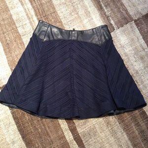 Rag & Bone Lambskin accent skirt